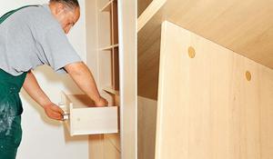 KROK VIII - Montaż szuflad i drobnych elementów szafy wnękowej