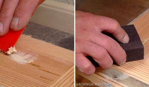 KROK IV - uzupełnianie ubytków w drewnie
