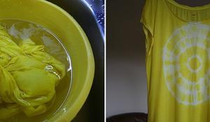 KROK IV - Suszenie koszulki